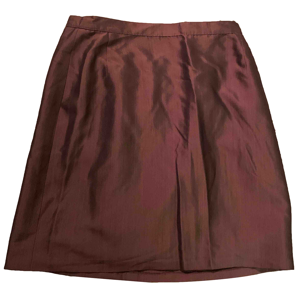 Genny \N Camel Silk skirt for Women 38 FR