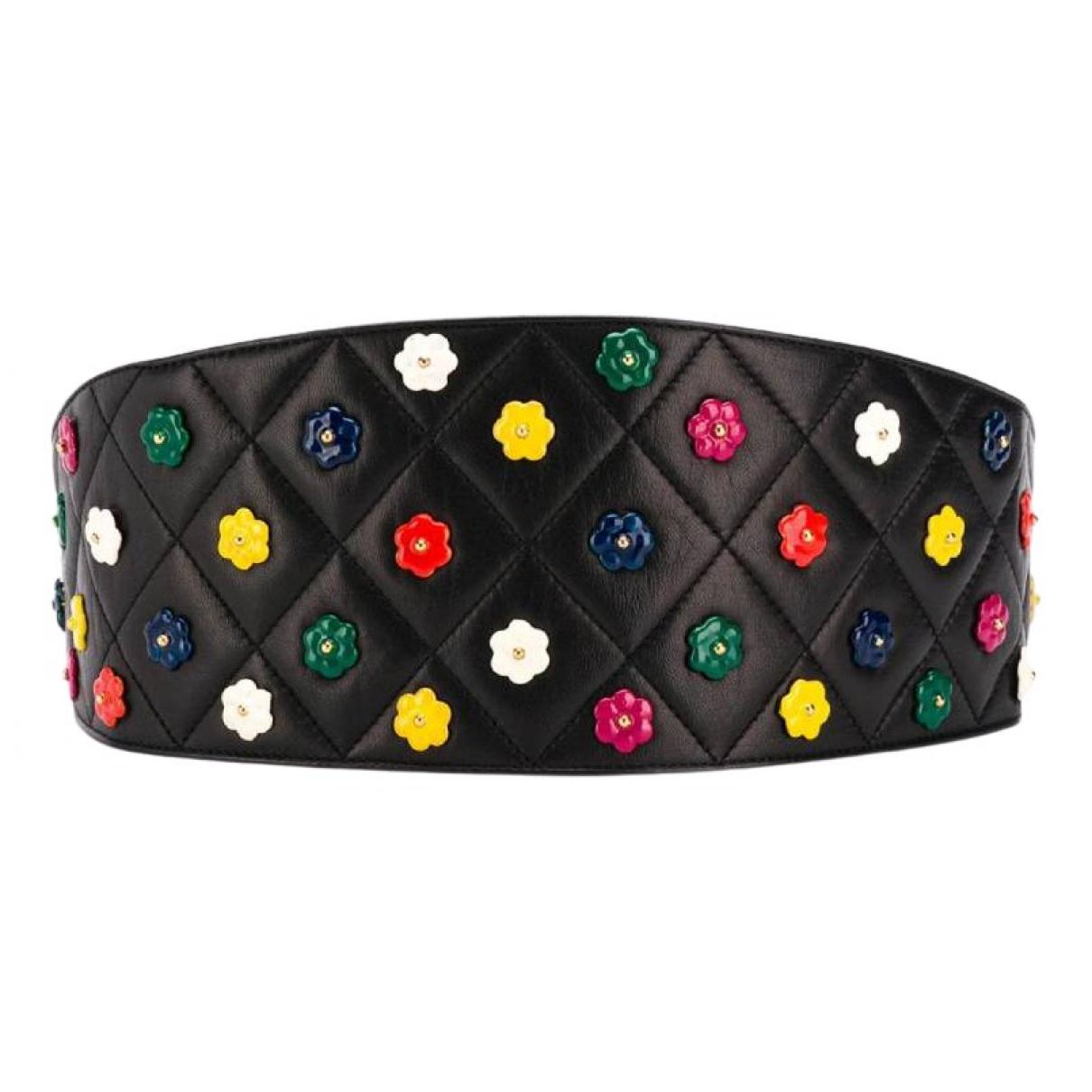 Chanel \N Black Leather belt for Women 80 cm