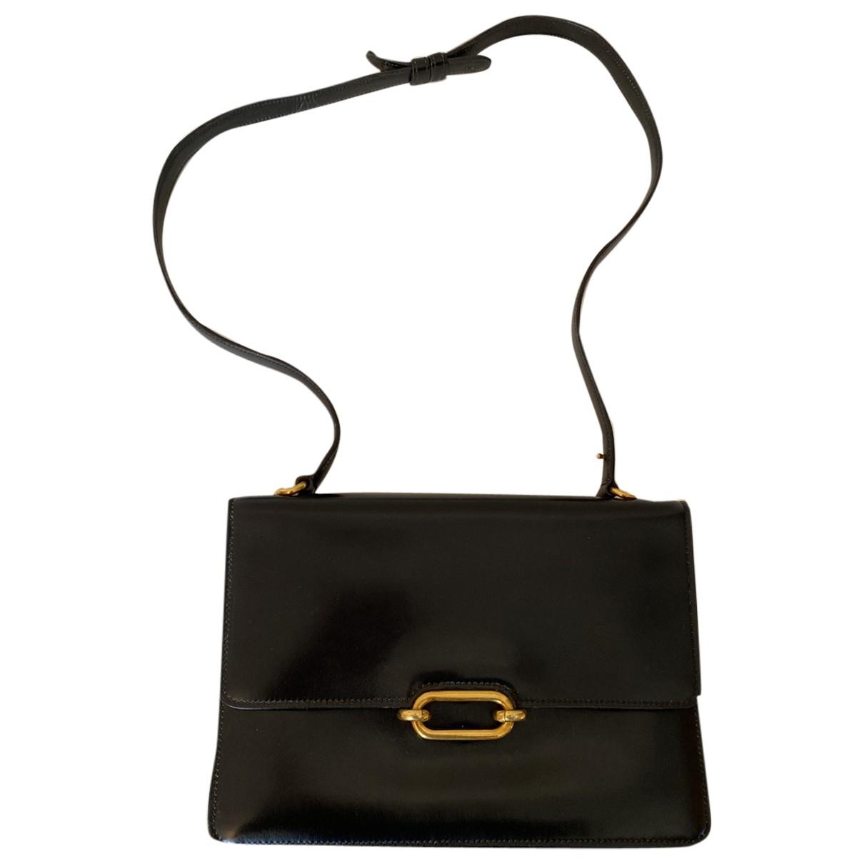 Hermès Fonsbelle Black Leather handbag for Women \N