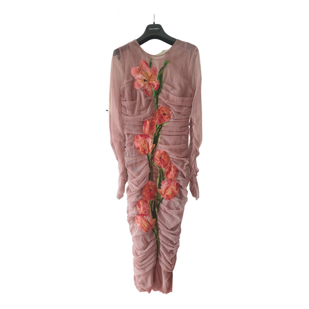 Dolce & Gabbana \N Kleid in  Rosa Seide