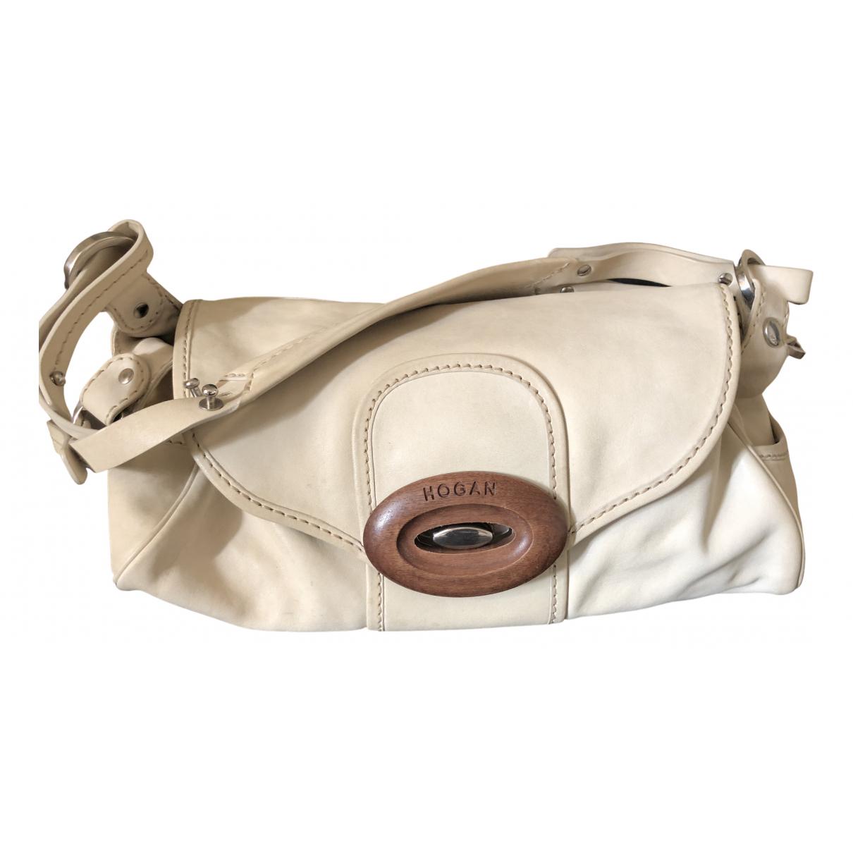 Hogan N Beige Leather handbag for Women N