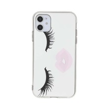 1 Stueck iPhone Huelle mit Wimpern Muster
