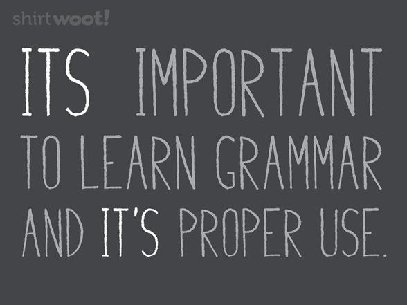 Proper Grammar Usage T Shirt