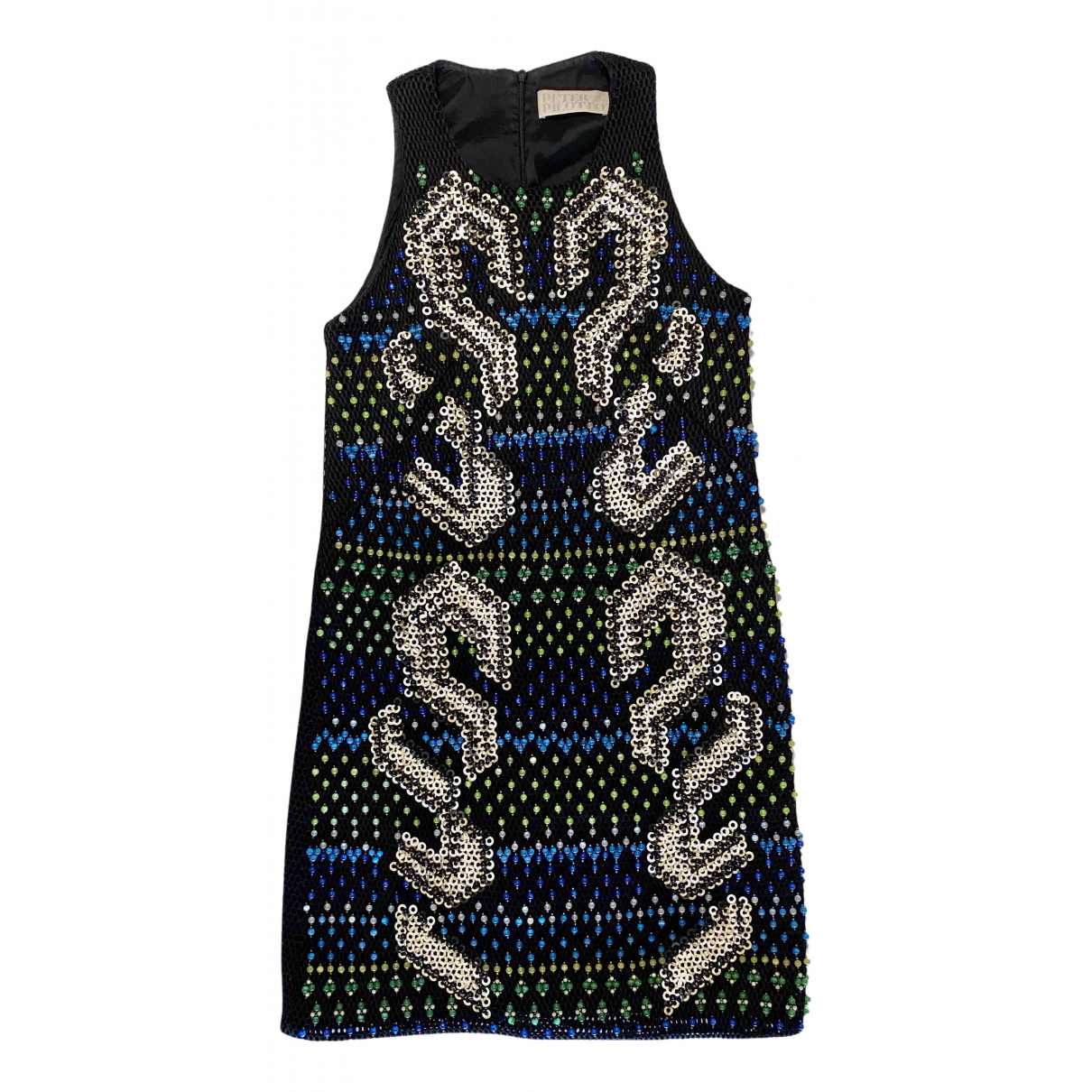 Peter Pilotto \N Kleid in  Schwarz Polyester