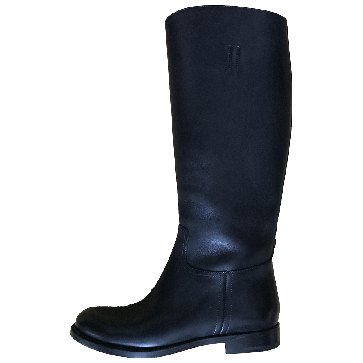 Prada N Black Leather Boots for Women 37 IT