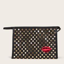 1 Stueck Makeup Tasche mit Punkten Muster