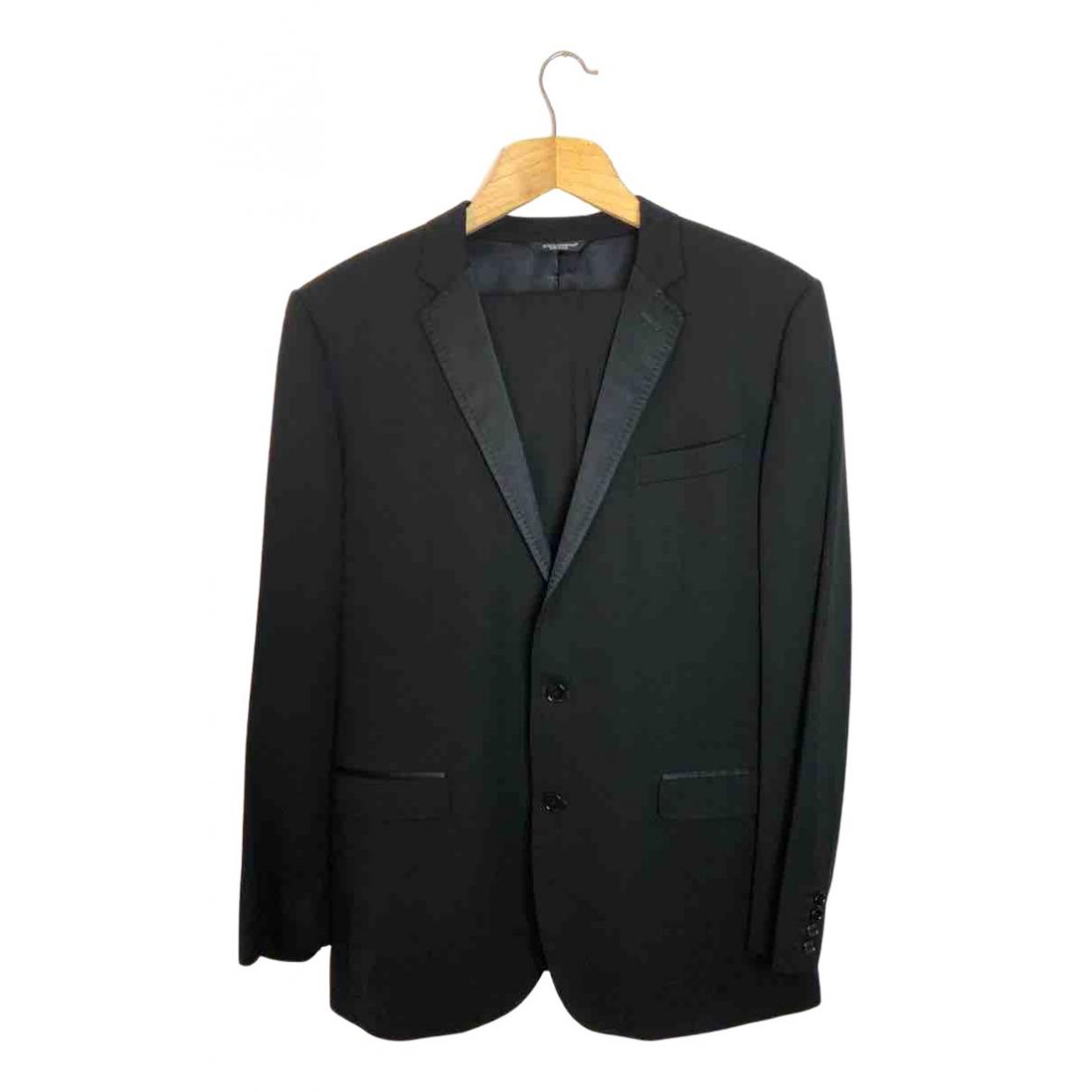 Dolce & Gabbana N Black Wool Suits for Men 54 FR