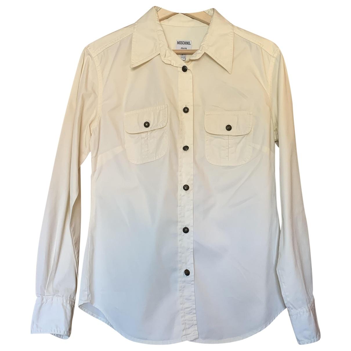Moschino Love \N Ecru Cotton  top for Women 40 FR