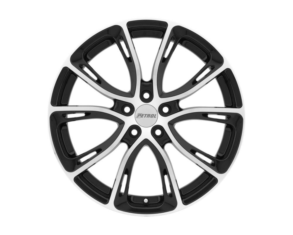 Petrol 1775P5A405110B72 P5A Wheel 17x7.5 5x110 40mm Gloss Black w/ Machined Cut Face