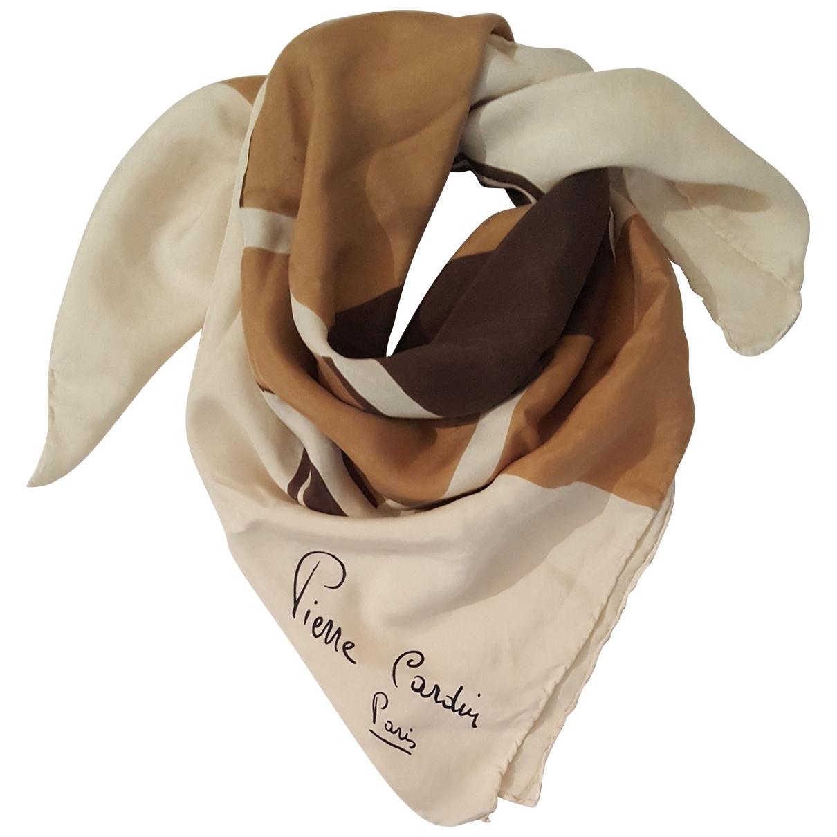 Pierre Cardin \N Camel Silk scarf for Women \N