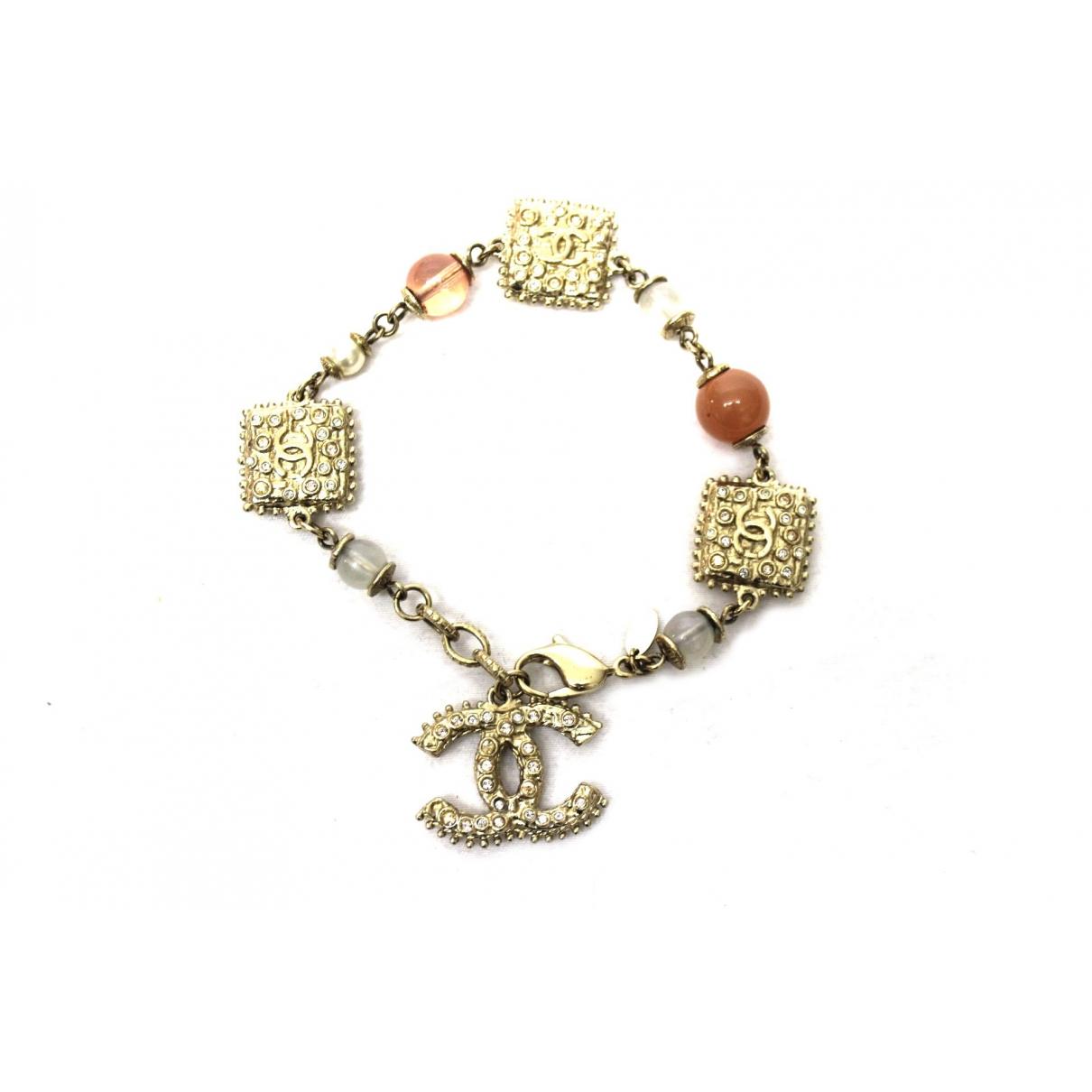 Chanel - Bracelet CC pour femme en autre - dore