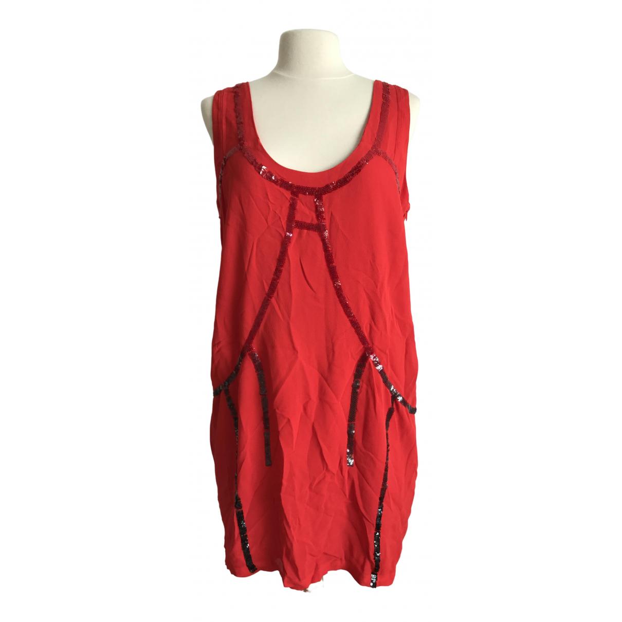 Diesel \N Kleid in  Rot Viskose