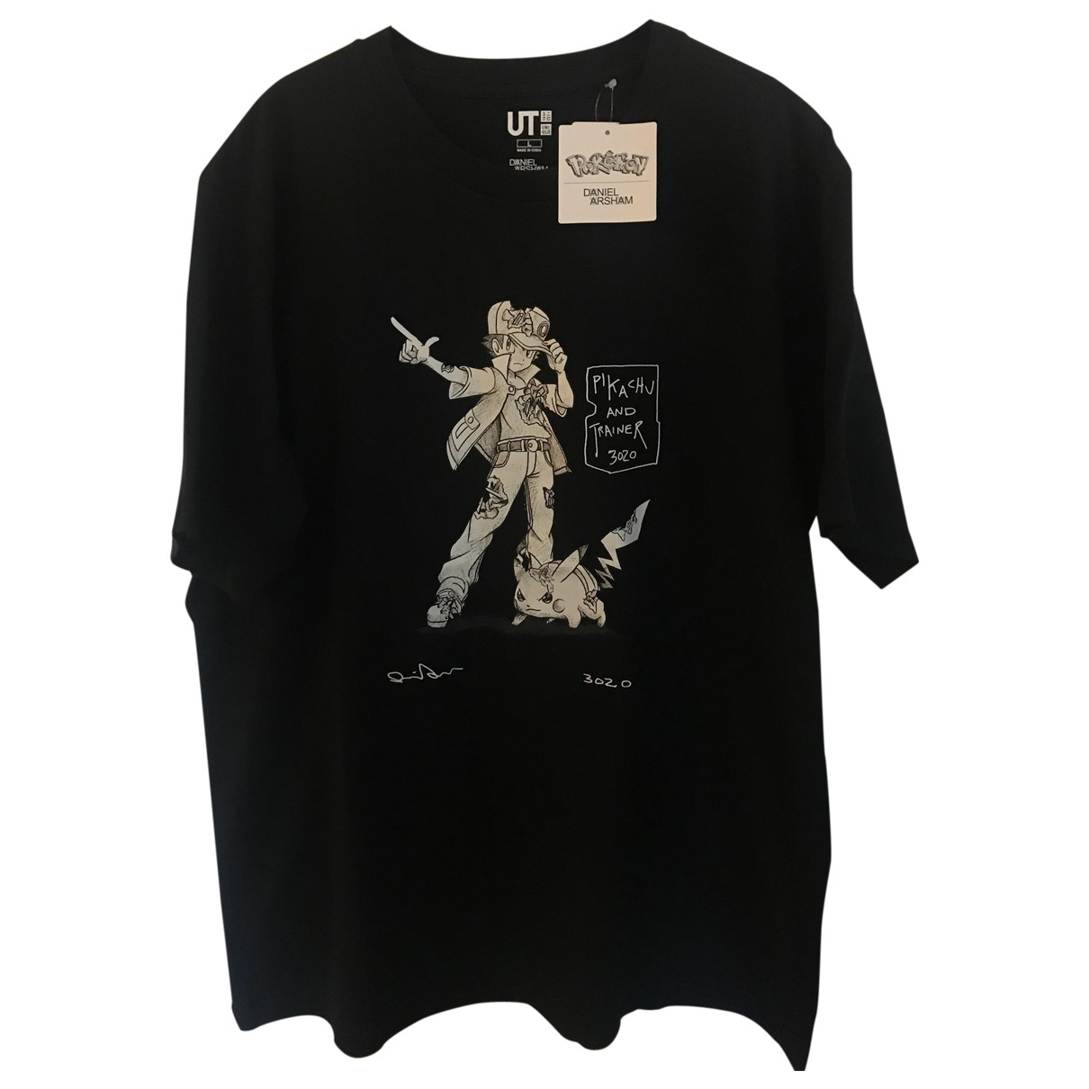 Uniqlo \N Black Cotton T-shirts for Men L International