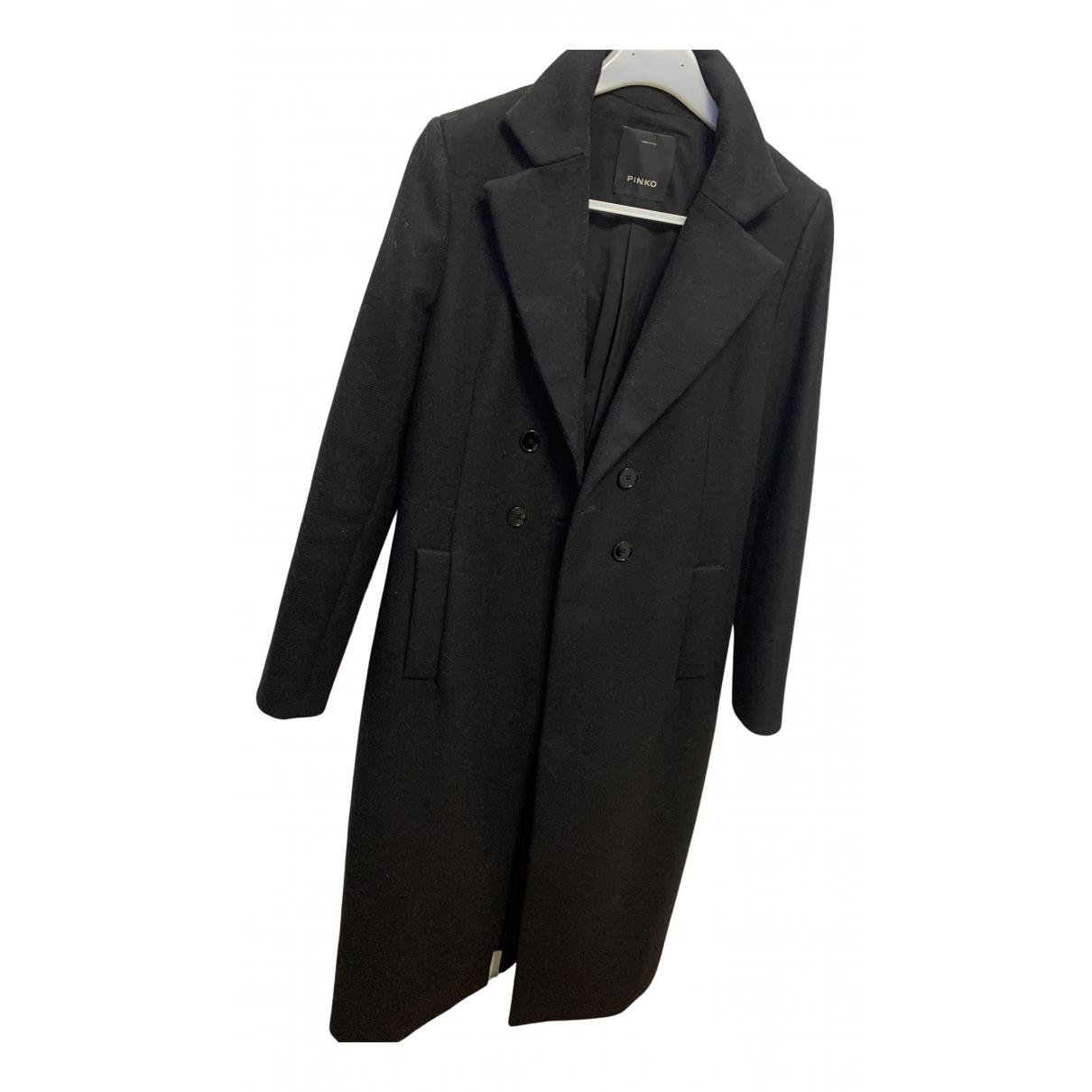 Pinko N Black Wool coat for Women 44 IT