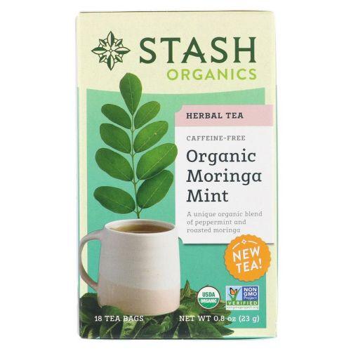 Herbal Tea Organic Moringa Mint 18 Count by Stash Tea