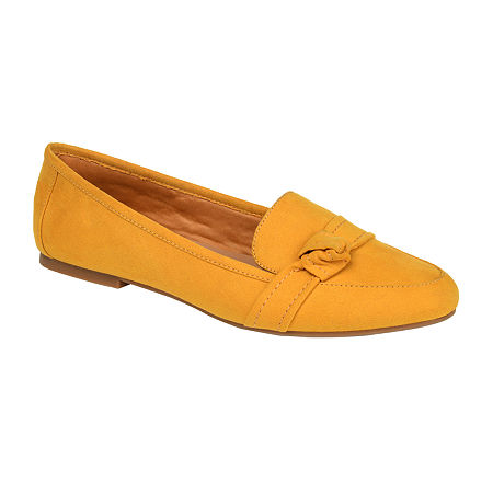 Journee Collection Womens Marci Slip-on Round Toe Loafers, 11 Medium, Yellow