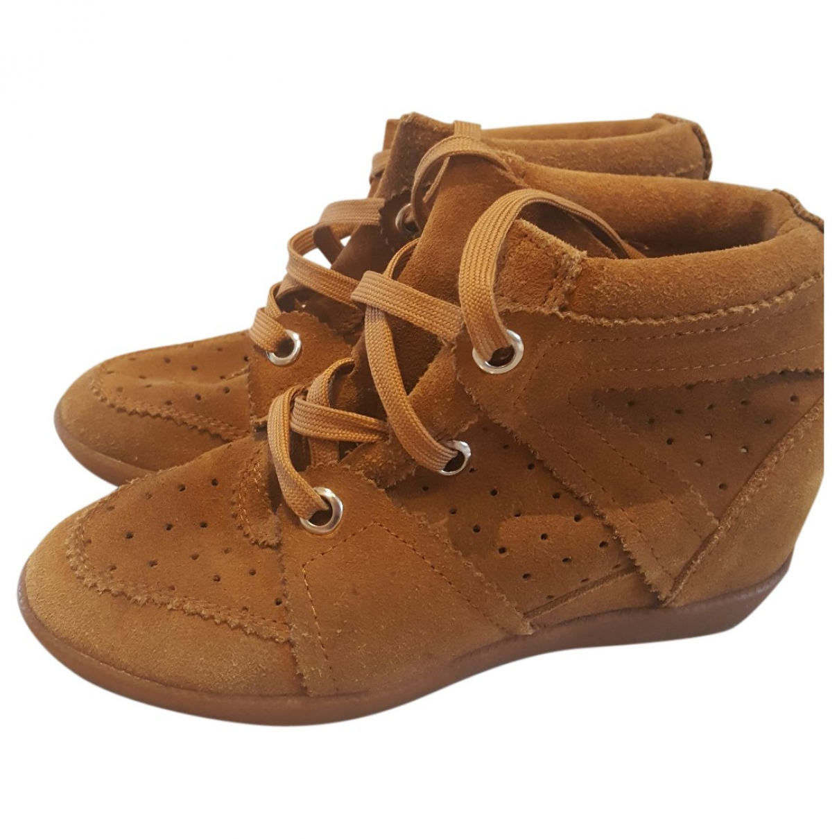 Isabel Marant Betty Brown Suede Trainers for Women 37 EU