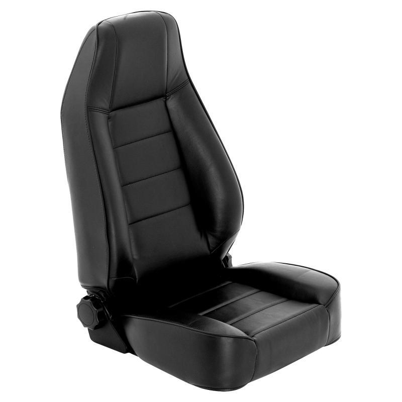 Front Seat Factory Style Replacement W/ Recliner 76-16 Wrangler CJ/YJ/TJ/LJ/JK Vinyl Black Smittybilt