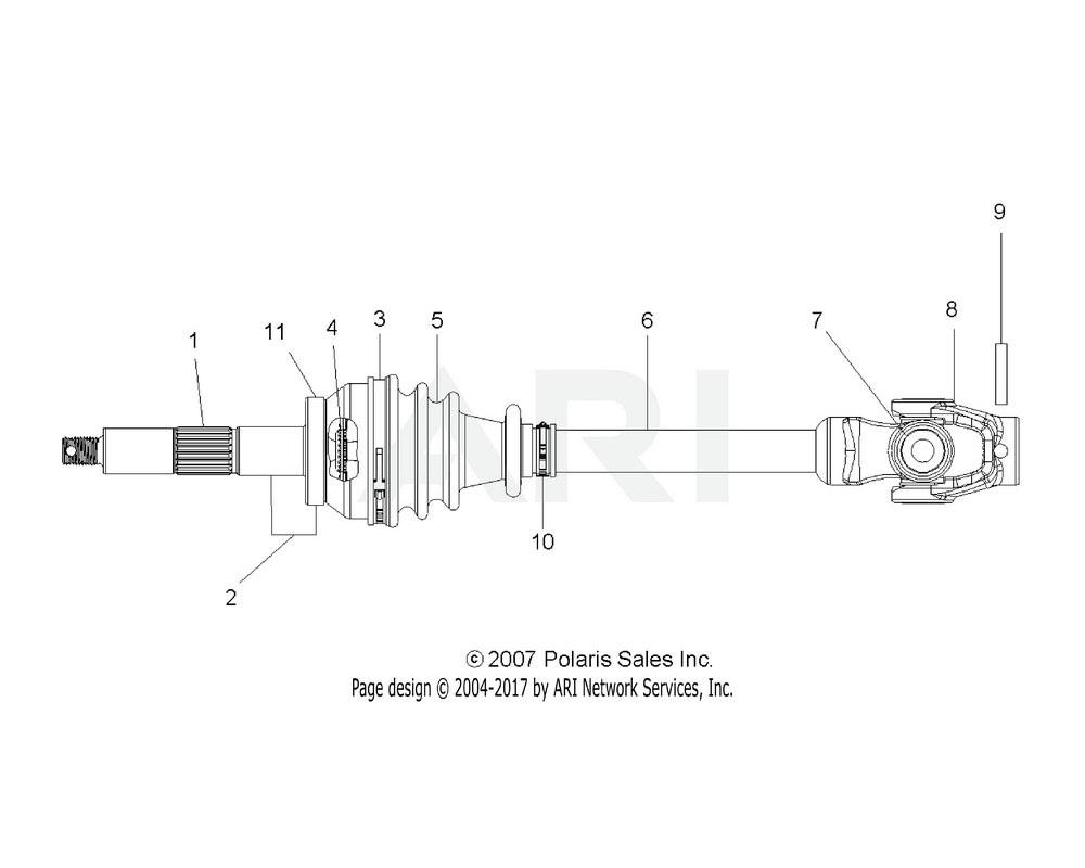 Polaris OEM 1380060 Shaft   [Incl. 4]