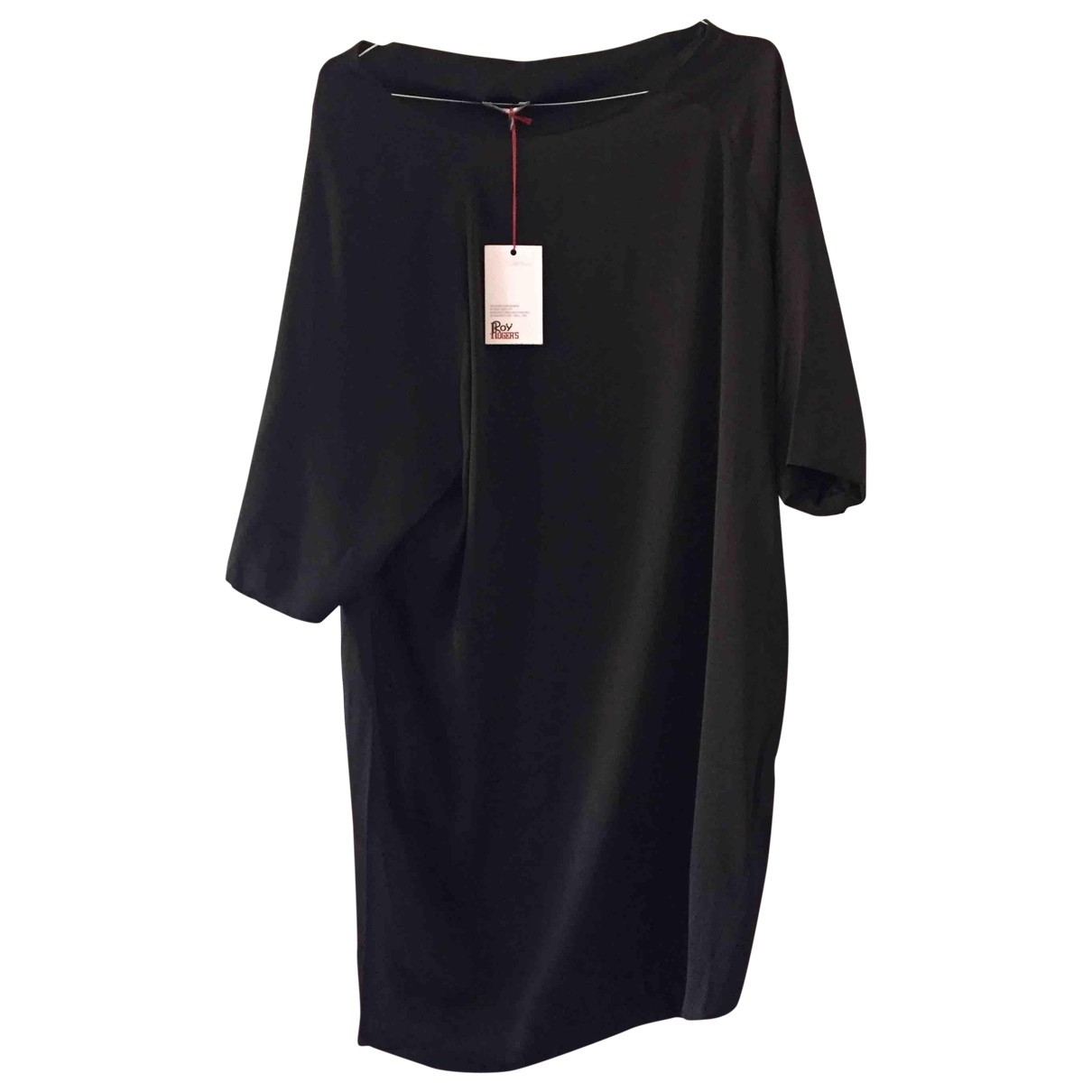 Roy Roger's \N Black Silk dress for Women 40 IT