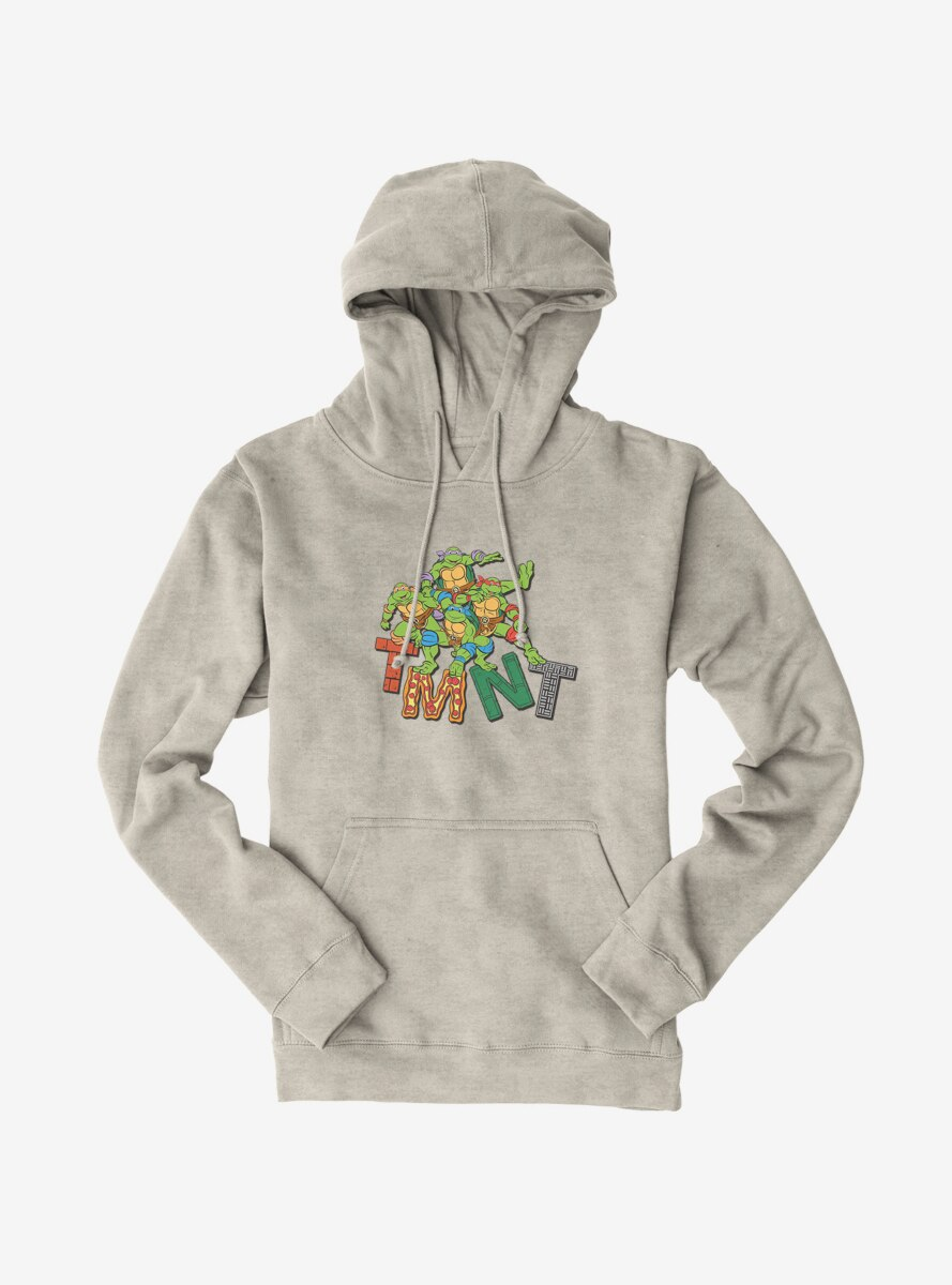 Teenage Mutant Ninja Turtles Patterned Logo Letters Group Hoodie