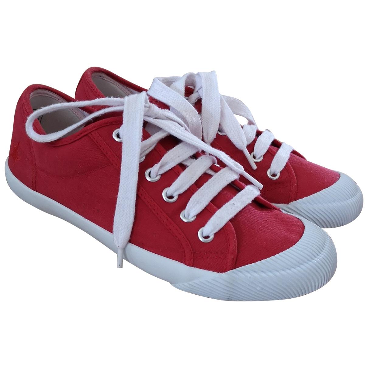 Sud Express - Baskets   pour femme en toile - rouge
