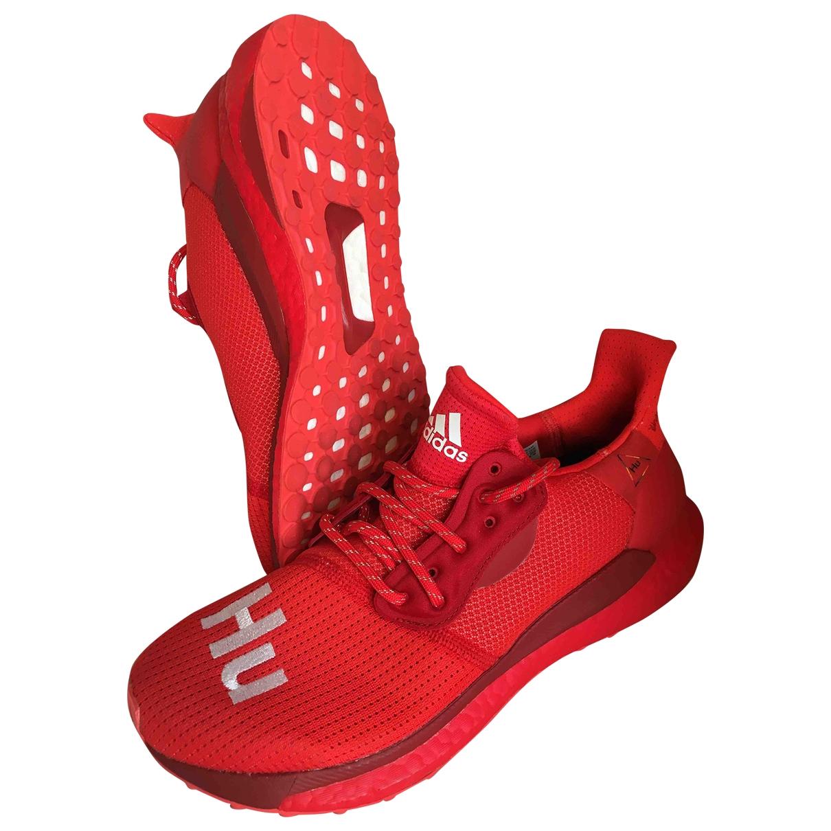 Adidas X Pharrell Williams NMD Hu Red Cloth Trainers for Men 42 EU