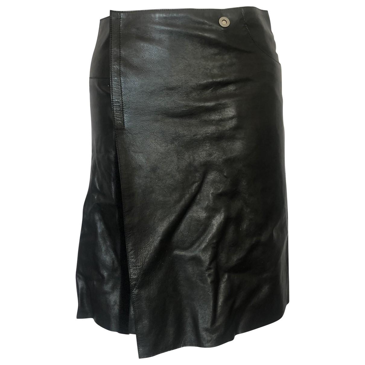 Jil Sander \N Black Leather skirt for Women 36 FR
