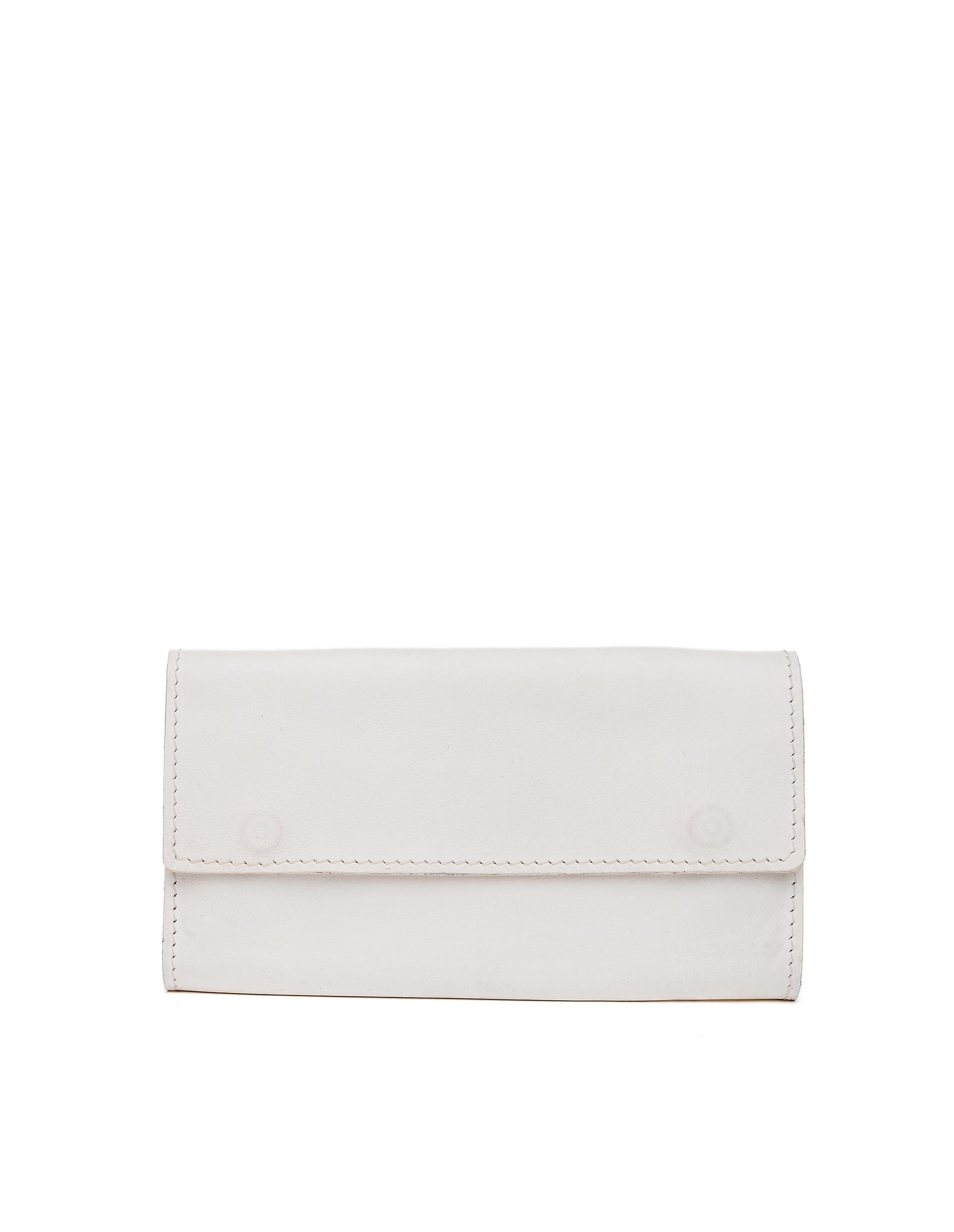 Guidi White Kangaroo Leather Wallet