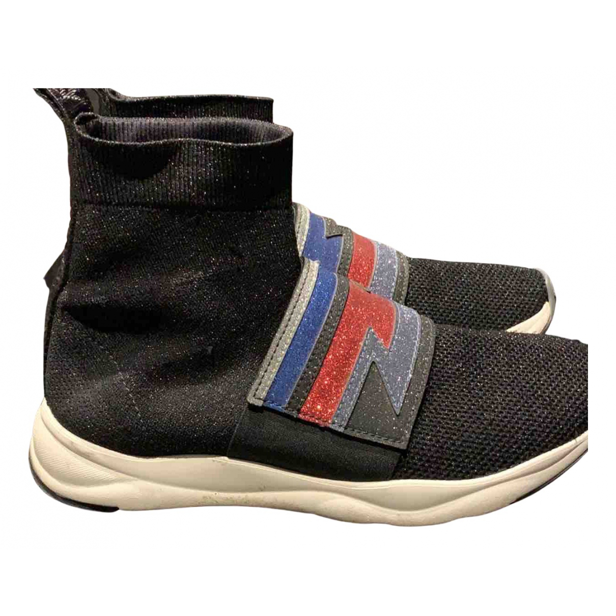 Balmain Cameron Sneakers in  Schwarz Leinen