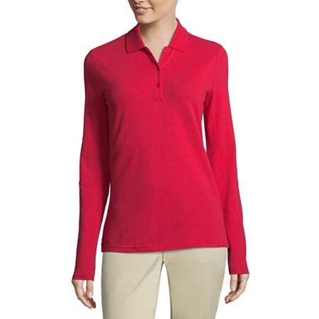 Arizona Long-Sleeve Polo Shirt, X-small , Red