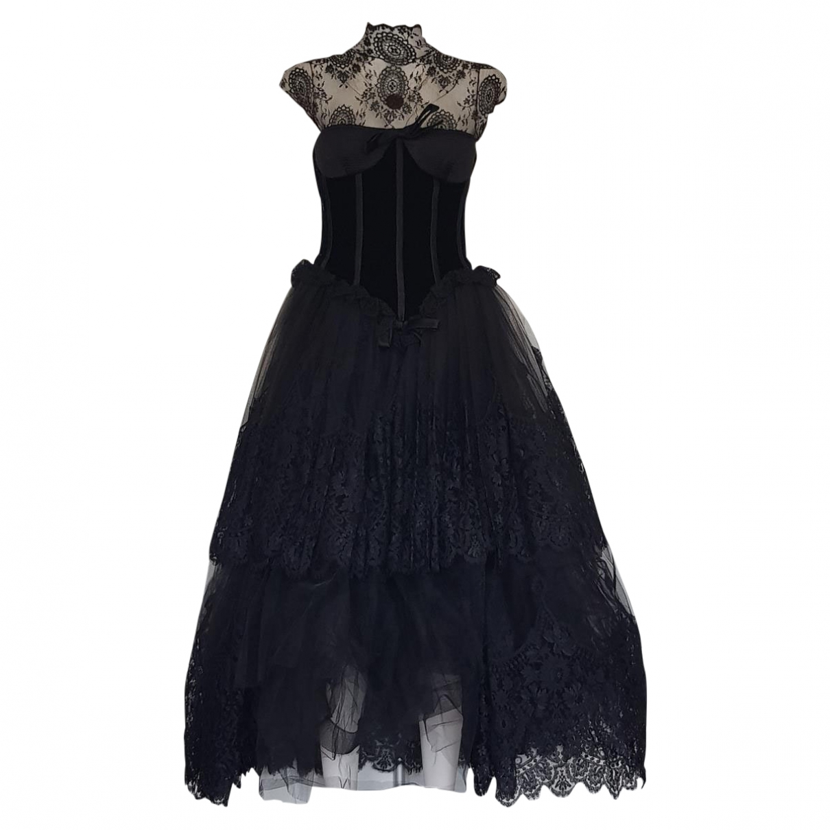 Valentino Garavani \N Black Lace dress for Women 42 IT