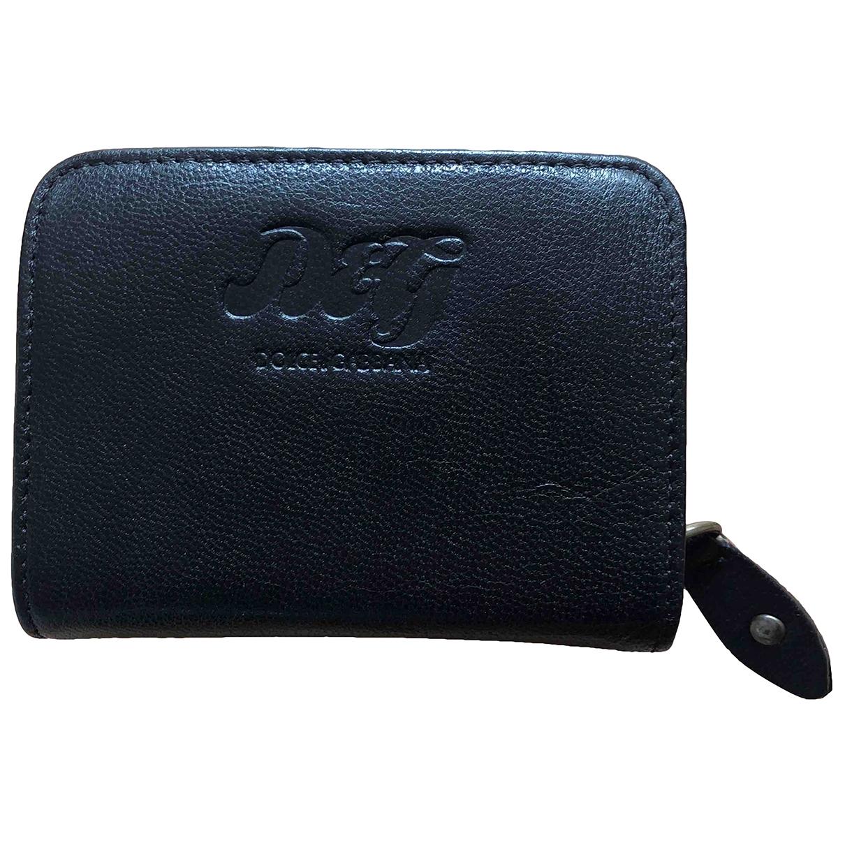 D&g - Portefeuille   pour femme en cuir - noir