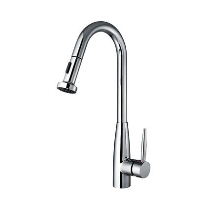 WH2070838-C Jem Collectin single hole faucet with a gooseneck swivel spout  pull-down spray head  and lever