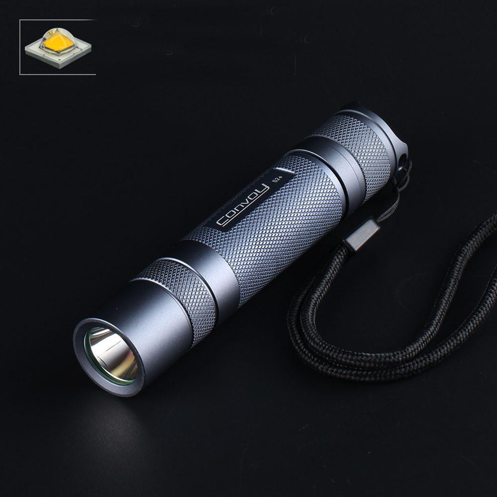 Gray Convoy S2+ SST20 2700K / 5000K / 6500K 7135*8 Firmware 18650 LED Flashlight DTP Copper Plate Ar-coated Glass Lens 7