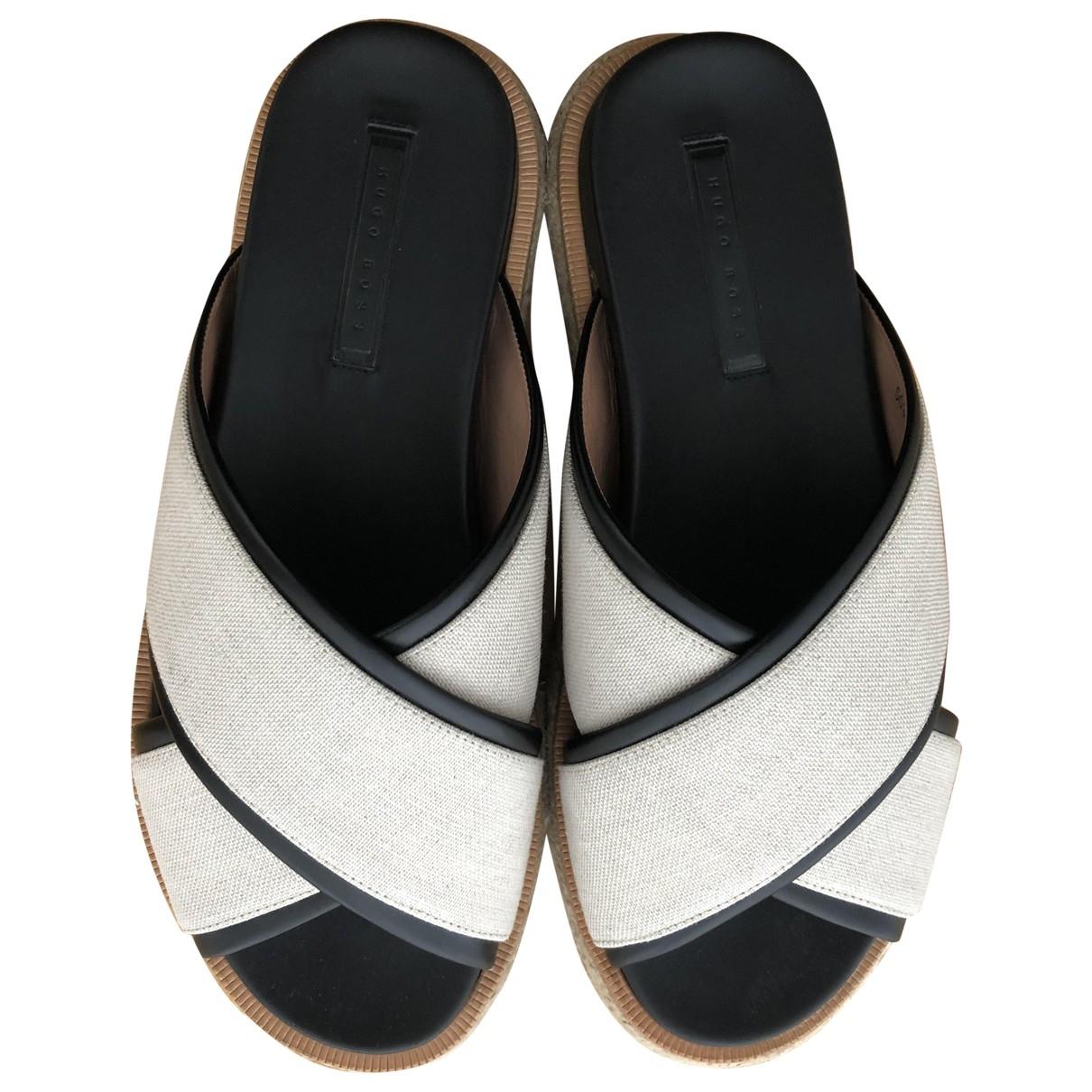 Hugo Boss \N Beige Leather Sandals for Women 37 EU
