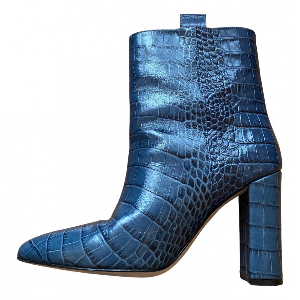 Paris Texas - Bottes   pour femme en cuir - bleu