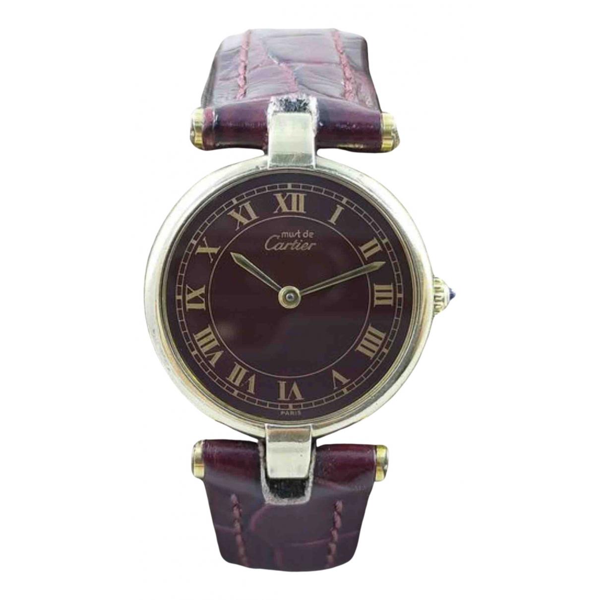 Cartier Must Vendome  Uhr in  Gold Vermeil