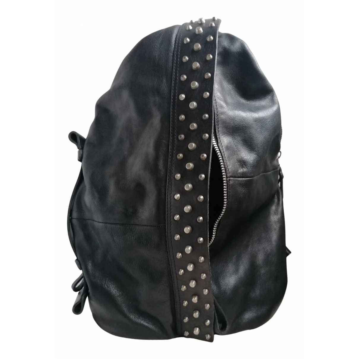 A.s.98 N Black Leather backpack for Women N