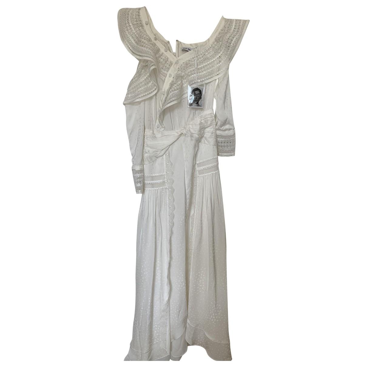Self Portrait - Robe   pour femme en soie - blanc