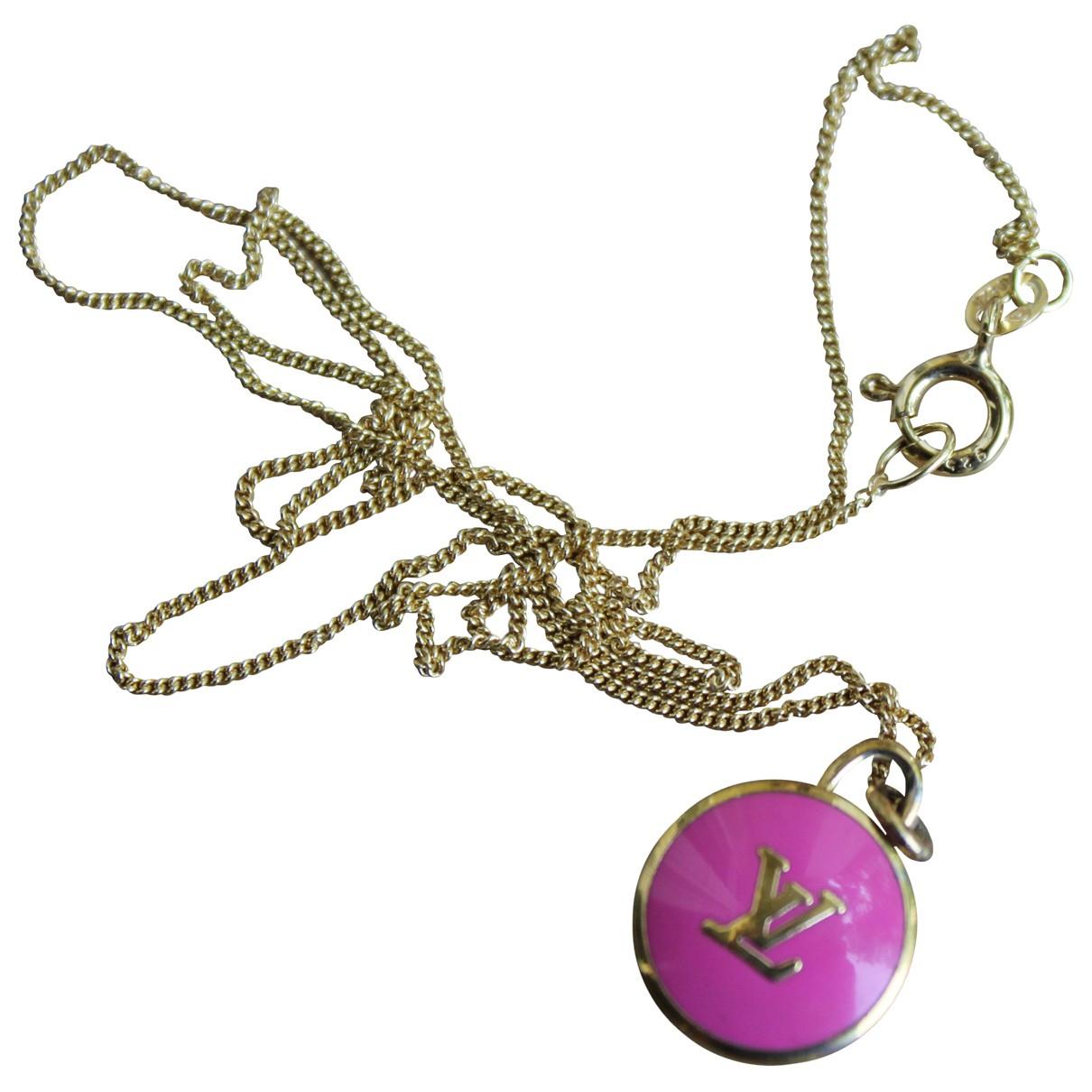 Louis Vuitton - Pendentif Monogram pour femme en metal - rose