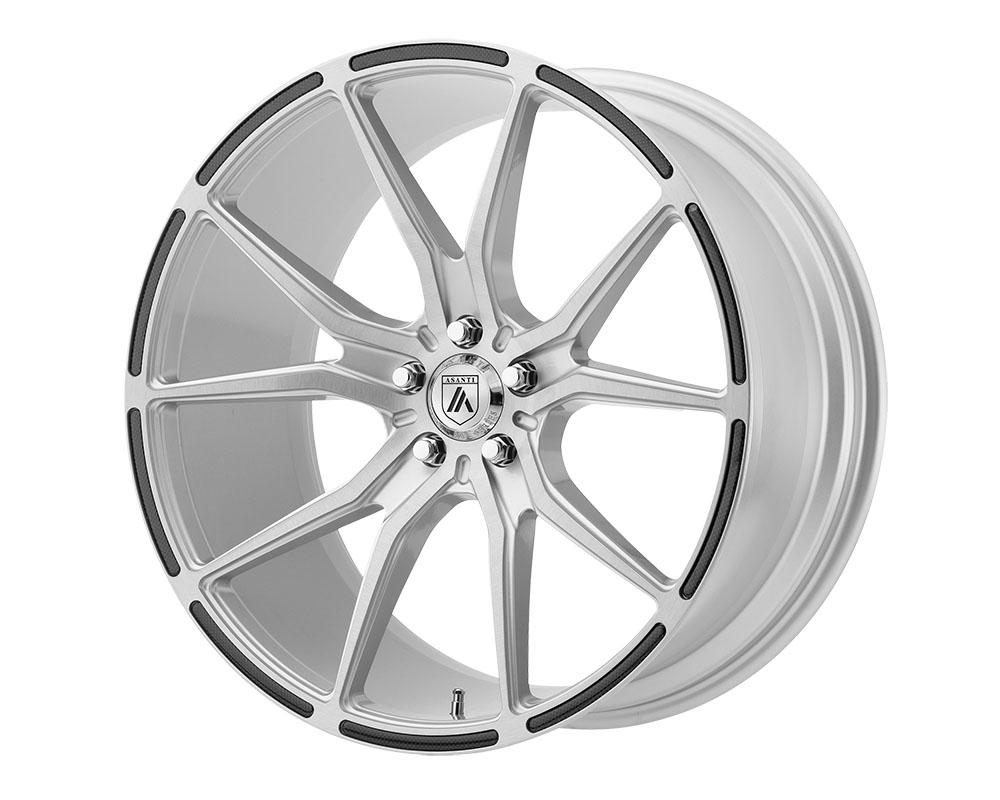 Asanti ABL13-20055638SL Black ABL-13 Vega Wheel 20x10.5 5x5x112 +38mm Brushed Silver Carbon Fiber Insert