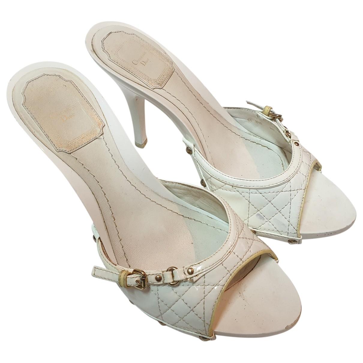 Sandalias de Charol Christian Dior