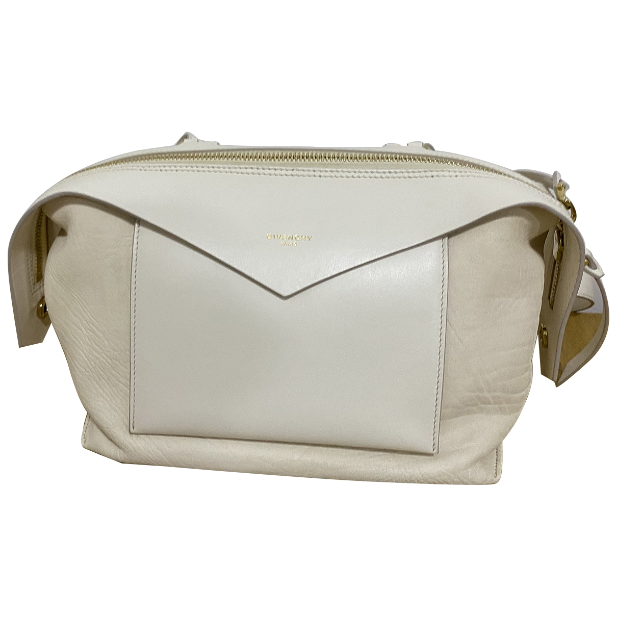 Givenchy Sway Ecru Leather handbag for Women \N