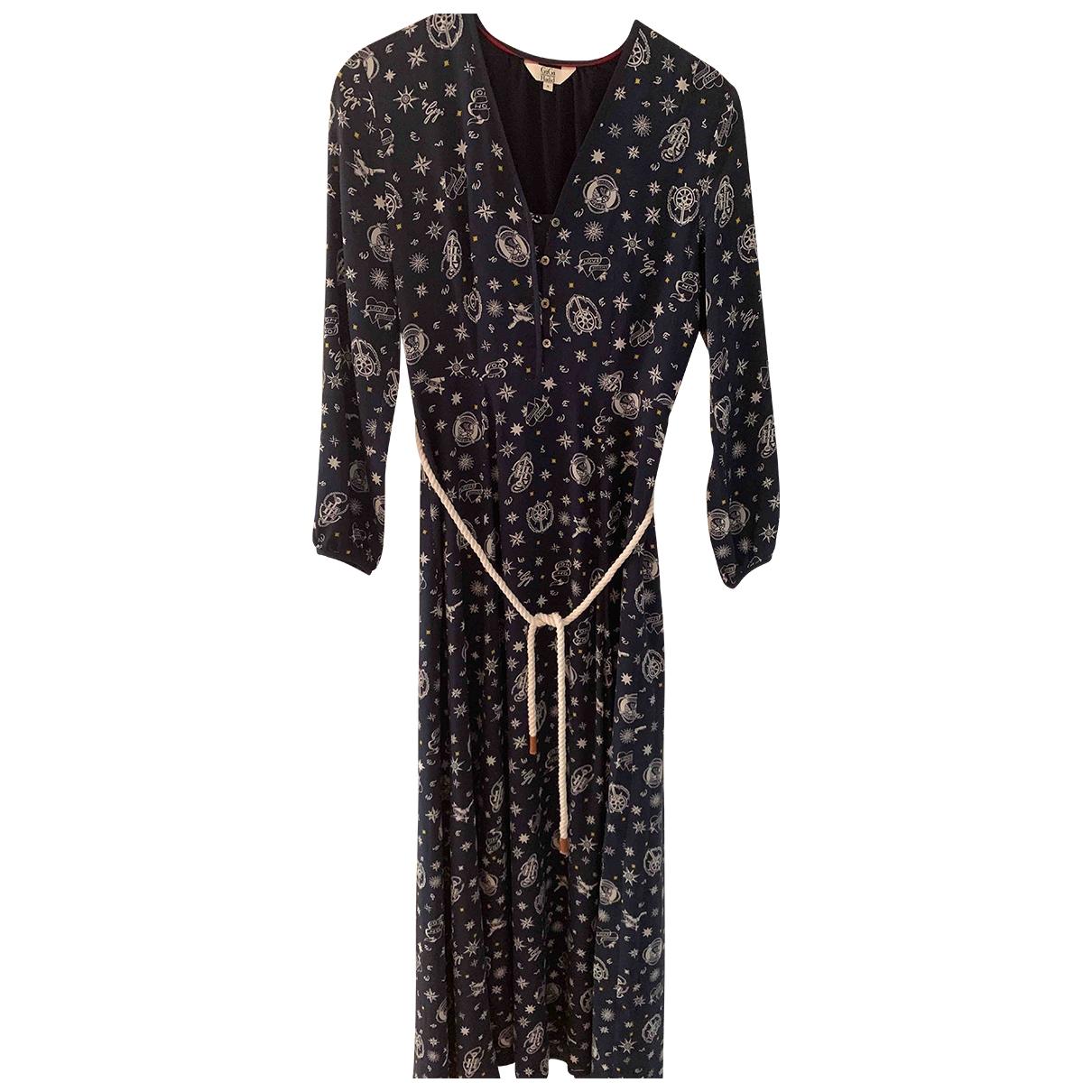 Gigi Hadid X Tommy Hilfiger \N Kleid in  Blau Seide