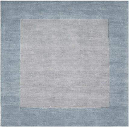 Mystique M-305 6' Square Modern Rug in Medium Gray