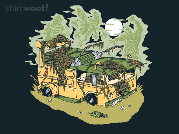 Haunted Old Party Wagon T Shirt