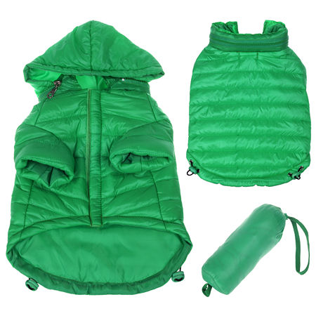 The Pet Life Lightweight Adjustable Sporty Avalanche Pet Coat, One Size , Green