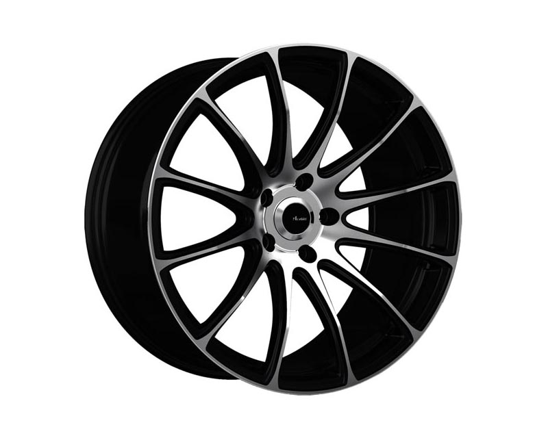 Advanti Racing Svelto Wheel 19x8.5 5x1120 35 BKMTMS Matte Black Machine Face