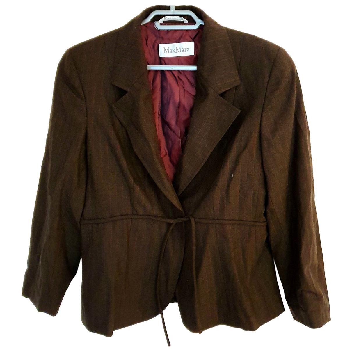 Max Mara - Veste   pour femme en laine - marron
